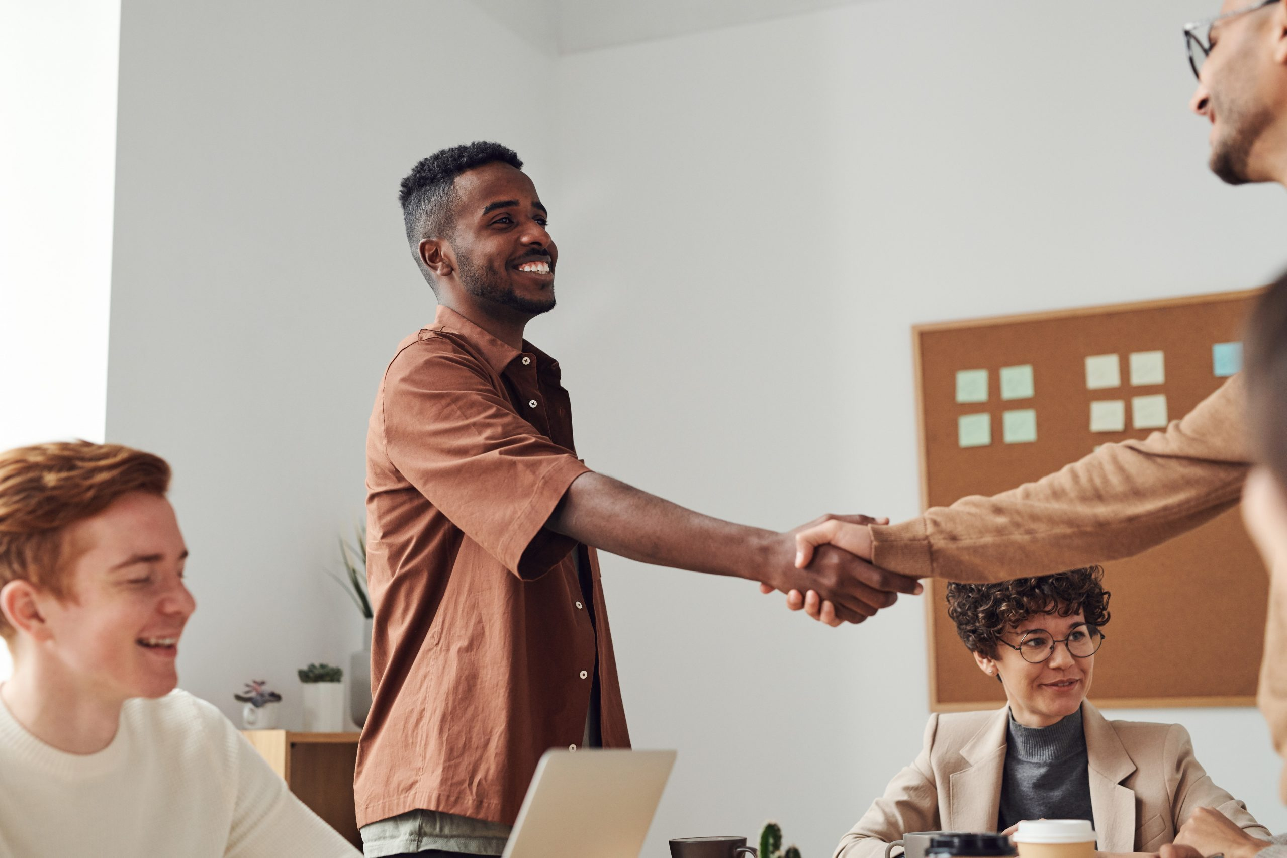B2b business partners shaking hands, building that level of trust.
